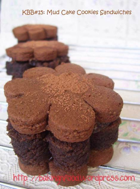 KBB#15 - Mud Cake Cookies Sandwich