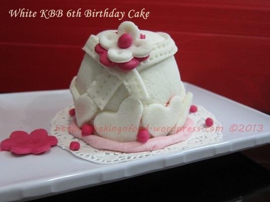 KBB White birthday cake