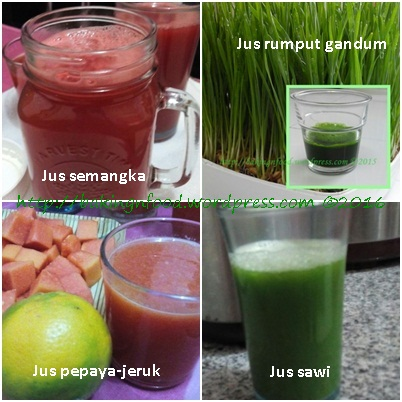 Hasil jus slow juicer